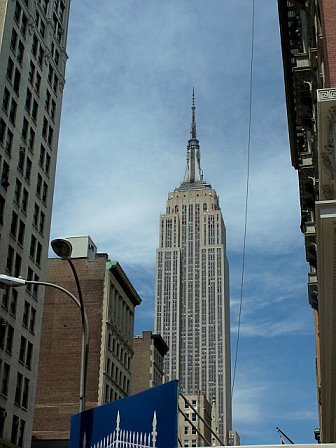 View of the Empire State Building from Madison Square Park