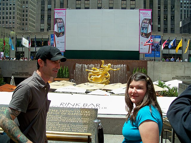 Tour Guide Luke at Rockefeller Center