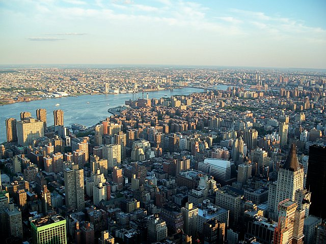 View from the top of the Empire State Building in New York