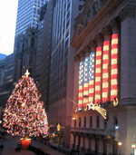 New York Stock Exchange Christmas Lights