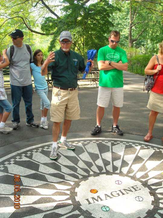 Tour Guide Edwin at Strawberry Fields
